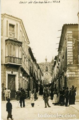 YECLA (MURCIA). CALLE DE CORBALÁN. REVERSO TARJETA POSTAL. SIN Nº NI EDITOR. (Postales - España - Murcia Moderna (desde 1.940))