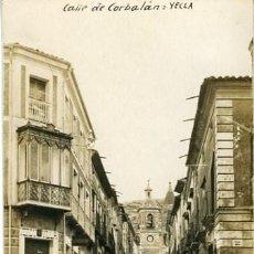 Postales: YECLA (MURCIA). CALLE DE CORBALÁN. REVERSO TARJETA POSTAL. SIN Nº NI EDITOR.. Lote 128338791