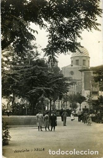 YECLA (MURCIA). GLORIETA. REVERSO TARJETA POSTAL. SIN Nº NI EDITOR. (Postales - España - Murcia Moderna (desde 1.940))
