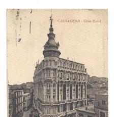 Postales: CARTAGENA.- GRAN HOTEL, FOT. CASAÚ- CIRCULADA (1926). Lote 235957670