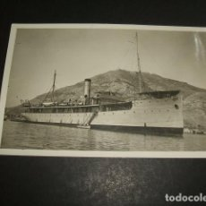 Postales: CARTAGENA MURCIA POSTAL FOTOGRAFICA CASAU FOTOGRAFO BARCO MARINA DE GUERRA ESPAÑOLA AÑOS 20. Lote 128709503