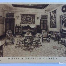 Postales: POSTAL. VISTA INTERIOR. HOTEL COMERCIO. LORCA. MURCIA.. Lote 128977371