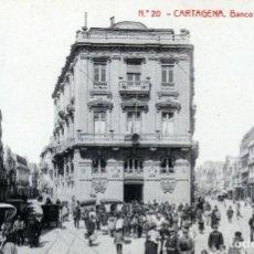 Postales: CARTAGENA MUY BONITA POSTAL Nº20 DEL BANCO DE ESPAÑA CALLE MUY ANIMADA.. Lote 128993875