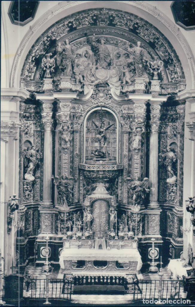 POSTAL MURCIA - RETABLO DE LA IGLESIA DE SAN MIGUEL - SALZILLO - ARRIBAS - CIRCULADA (Postales - España - Murcia Antigua (hasta 1.939))