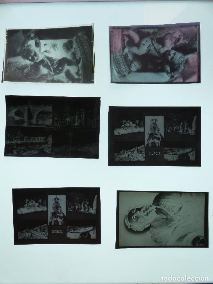 Postales: MURCIA - 9 CLICHES ORIGINALES - NEGATIVOS EN CELULOIDE - ED. ARRIBAS - Foto 2 - 130251066