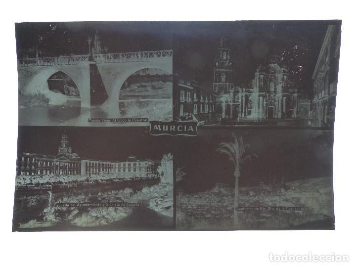 Postales: MURCIA - 9 CLICHES ORIGINALES - NEGATIVOS EN CELULOIDE - ED. ARRIBAS - Foto 10 - 130251066