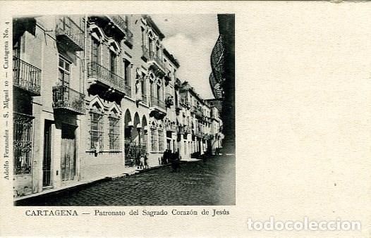 CARTAGENA (MURCIA). PATRONATO DEL SAGRADO CORAZÓN DE JESÚS. EDIC. ALFONSO FERNÁNDEZ Nº 10. (Postales - España - Murcia Antigua (hasta 1.939))
