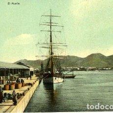 Postales: CARTAGENA (MURCIA). EL MUELLE. NO CONSTA EDITOR. CROMOLITOGRAFÍA.. Lote 131063604