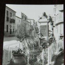 Postales: FOTOGRAFIA DE ALCANTARILLA (MURCIA) , AÑOS 60, POETA JARA CARRILLO, BUSTO, MIDE 10,5 X 7,5 CMS. UN P. Lote 131116568