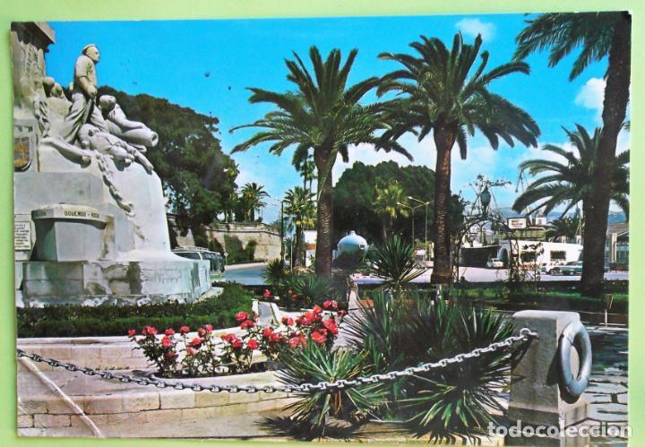 CARTAGENA. 53 MONUMENTO A LOS HÉROES DE CAVITE. ED. ARRIBAS. USADA CON SELLO. COLOR (Postales - España - Murcia Moderna (desde 1.940))