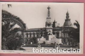 POSTAL DE CARTAGENA - MURCIA - MONUMENTO A HÉROES D CAVITE - AYUNTAMIENTO Nº16 ARRIBAS (Postales - España - Murcia Moderna (desde 1.940))