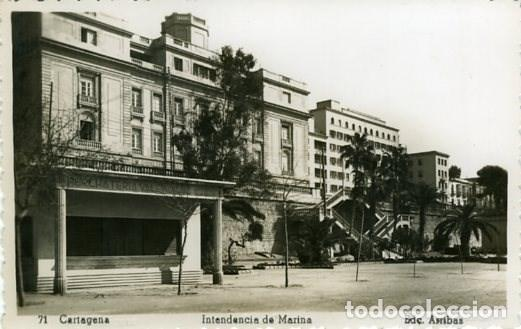 CARTAGENA (MURCIA). INTENDENCIA DE MARINA. EDICIONES ARRIBAS Nº 71. FOTOGRÁFICA (Postales - España - Murcia Moderna (desde 1.940))