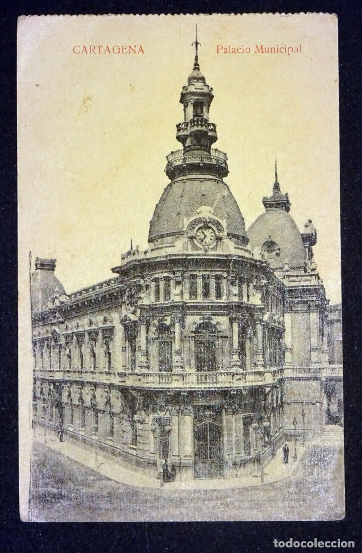 CARTAGENA, PALACIO MUNICIPAL. ANTIGUA POSTAL SIN CIRCULAR. (Postales - España - Murcia Antigua (hasta 1.939))