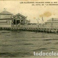 Postales: LOS ALCÁZARES (MURCIA). BALNEARIO SOBRE EL MAR DEL HOTEL DE 'LA ENCARNACIÓN'. ED. HAUSER Y MENNET.. Lote 137857170