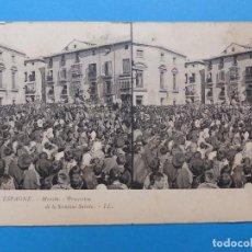 Postales: MURCIA, PROCESION DE LA SEMANA SANTA - POSTAL ESTEREOSCOPICA - L. LEVY. Lote 138591758