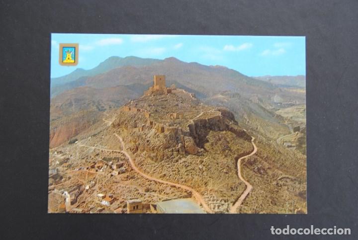 TARJETA POSTAL LORCA (MURCIA). CASTILLO. TORRE ALFONSINA AL FONDO (Postales - España - Murcia Moderna (desde 1.940))