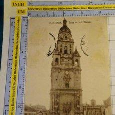 Postales: POSTAL DE MURCIA. AÑOS 10 30. TORRE DE LA CATEDRAL. FERGUI. 1710. Lote 140055922