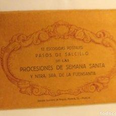 Postais: LIBRO ÁLBUM ACORDEÓN 10 ESCOGIDA POSTALES PASOS DE SALZILLO PROCESIONES SEMANA SANTA MURCIA. Lote 140153853
