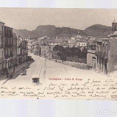 Postales: CARTAGENA (MURCIA).- CALLE S. DIEGO. Lote 140509498