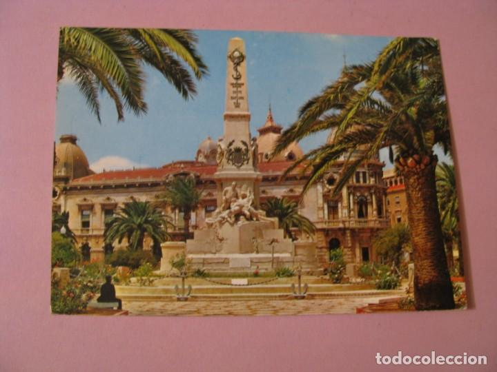 POSTAL DE CARTAGENA. MONUMENTO A LOS HÉROES DE SANTIAGO Y CAVITE. ED. GARCIA GARRABELLA. (Postales - España - Murcia Moderna (desde 1.940))