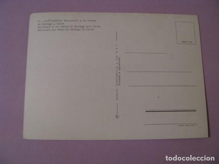Postales: POSTAL DE CARTAGENA. MONUMENTO A LOS HÉROES DE SANTIAGO Y CAVITE. ED. GARCIA GARRABELLA. - Foto 2 - 140792558
