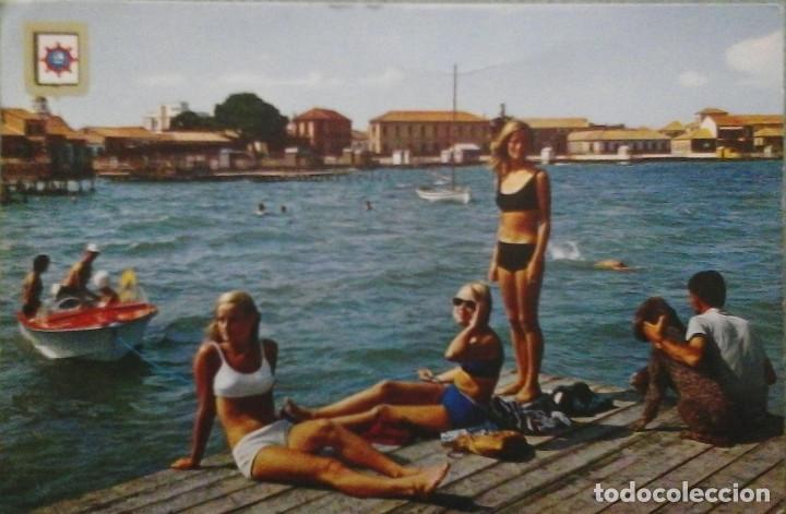 POSTAL LOS ALCAZARES MAR MENOR DETALLE DE LA PLAYA (Postales - España - Murcia Moderna (desde 1.940))