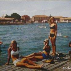 Postales: POSTAL LOS ALCAZARES MAR MENOR DETALLE DE LA PLAYA. Lote 141773686
