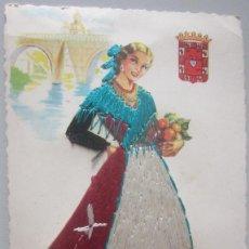 Cartoline: POSTAL BORDADA MURCIA. Lote 142300542