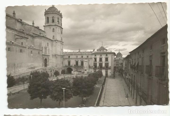 LORCA -PLAZA DE ESPAÑA. MONUMENTO AL SAGRADO CORAZÓN - Nº 49 ED. ARRIBAS (Postales - España - Murcia Moderna (desde 1.940))