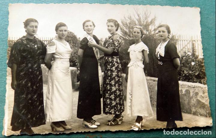 ANTIGUA POSTAL , MISS, SEÑORITAS . CARTAGENA, FOTOGRAFIA SAEZ (Postales - España - Murcia Antigua (hasta 1.939))