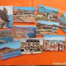 Postales: MURCIA - AGUILAS - 10 POSTALES - 3 CIRCULADAS MATASELLOS Y SELLO AÑOS 1972. Lote 144096978