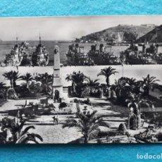 Postales: CARTAGENA. HÉROES DE CAVITE Y LA ESCUADRA EN EL PUERTO. ESCRITA.. Lote 144619186