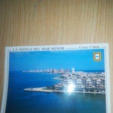 Postales: POSTAL COSTA CALIDAD LA MANGA DEL MAR MENOR AÑOS 80. Lote 145241793