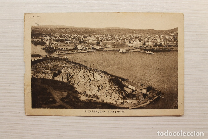POSTAL CARTAGENA, VISTA PARCIAL, CASAÚ FOT. (Postales - España - Murcia Moderna (desde 1.940))