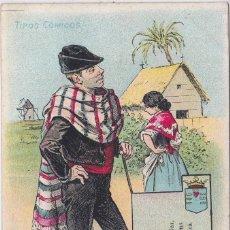 Postales: MURCIA - MURCIANO ROMANTICO- TIPOS COMICOS. Lote 145397238