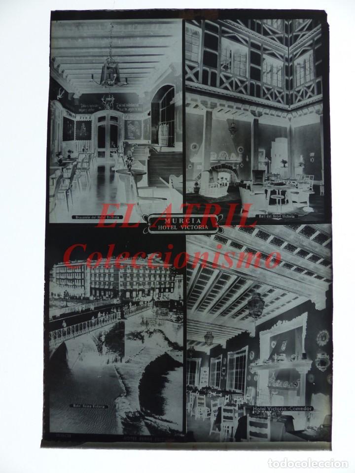 Postales: 4 CLICHES ORIGINALES - MURCIA - NEGATIVOS EN CRISTAL - EDICIONES ARRIBAS - Foto 2 - 145477958