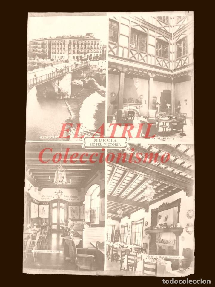 Postales: 4 CLICHES ORIGINALES - MURCIA - NEGATIVOS EN CRISTAL - EDICIONES ARRIBAS - Foto 5 - 145477958