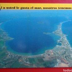 Postales: POSTAL MAR MENOR MURCIA SI A USTED LE GUSTA EL MAR NOSOTROS TENEMOS DOS AÑO 1990. Lote 146687137