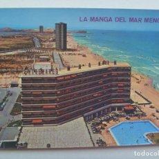 Postales: POSTAL DE LA MANGA DEL MAR MENOR ( MURCIA ) : VISTA PANORAMICA . AÑOS 60.. Lote 147596890