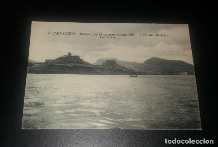 POSTAL CARTAGENA. INUNDACIÓN 29 SEPTIEMBRE 1919. VISTA DEL ALMAJAR (ALMARJAL) (Postales - España - Murcia Antigua (hasta 1.939))