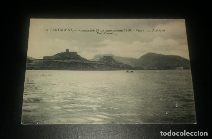 Postales: Postal Cartagena. Inundación 29 Septiembre 1919. Vista del Almajar (Almarjal) - Foto 2 - 147619778