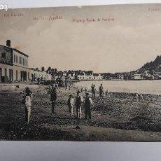 Postales: ANTIGUA POSTAL DE AGUILAS- MURCIA. Nº14 PLAYA Y PUERTO DE PONIENTE. FOTO CARRILLO. COLECCIÓN ALARCÓN. Lote 147737050