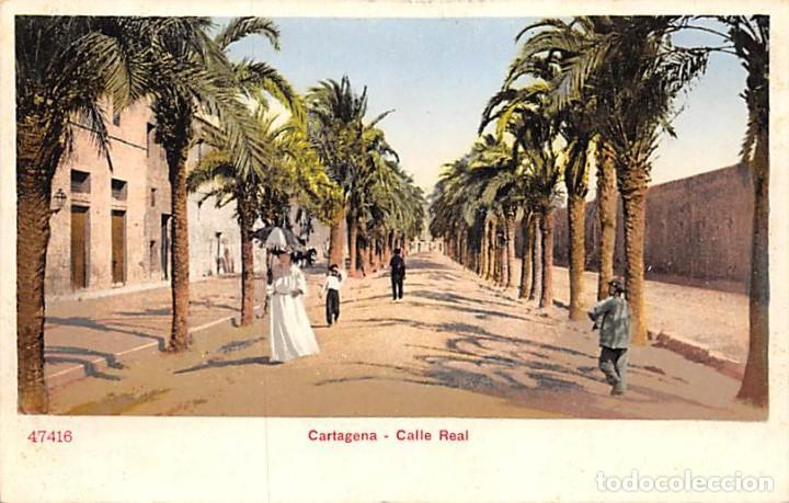 CARTAGENA.- CALLE REAL (Postales - España - Murcia Antigua (hasta 1.939))
