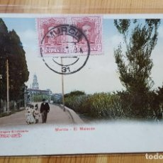 Postales: MURCIA EL MALECON Nº 47305 ED. PREIS KARTE ENVIADA A ITALIA R.E.C.P. 808 A FELIX LAORDEN FABRICA PO. Lote 151668926