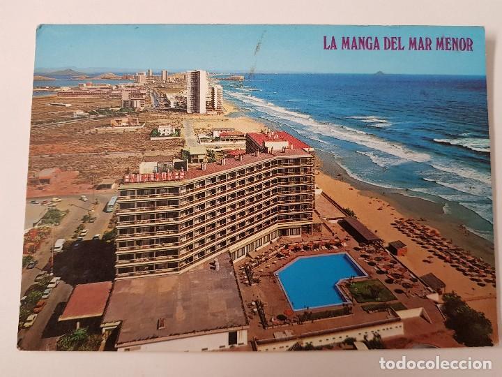 ANTIGUA POSTAL HOTEL ENTREMARES LA MANGA DEL MAR MENOR MURCIA BOYCER (Postales - España - Murcia Antigua (hasta 1.939))