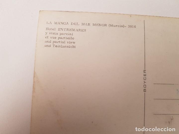 Postales: ANTIGUA POSTAL HOTEL ENTREMARES LA MANGA DEL MAR MENOR MURCIA BOYCER - Foto 2 - 152612562
