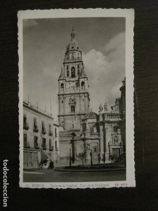 MURCIA-TORRE DE LA CATEDRAL-216-ED·AISA-MOTO & BICICLETA-POSTAL ANTIGUA-(57.255) (Postales - España - Murcia Antigua (hasta 1.939))