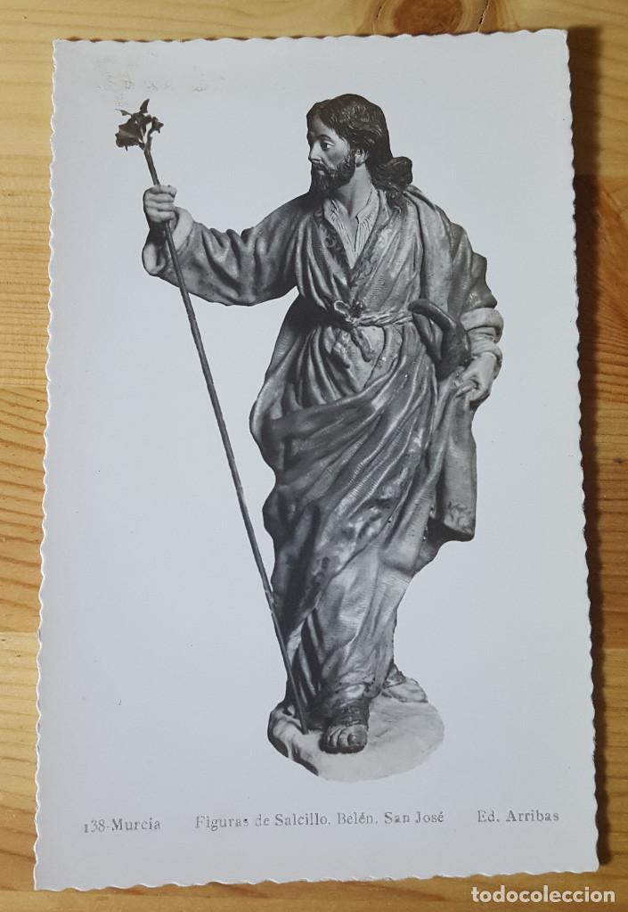 MURCIA FIGURAS DE SALCILLO BELEN SAN JOSE ED. ARRIBAS Nº 138 (Postales - España - Murcia Moderna (desde 1.940))