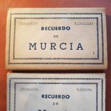 Postales: POSTALES VISTAS ARTISTICAS RECUERDO DE MURCIA EDICIONES ARRIBAS I Y II. Lote 153990914