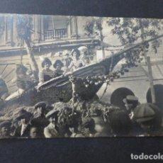 Postales: MURCIA DESFILE DE CARROZAS ANTE LA AUDIENCIA POSTAL FOTOGRAFICA HACIA 1915 RARA. Lote 154328630